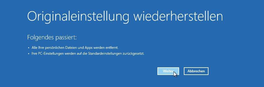 windows 8.1 auf windows 8 zurücksetzen