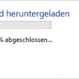 Nun läuft der Windows 10 Download an
