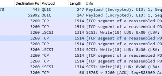 Ein Wireshark Packet Capture